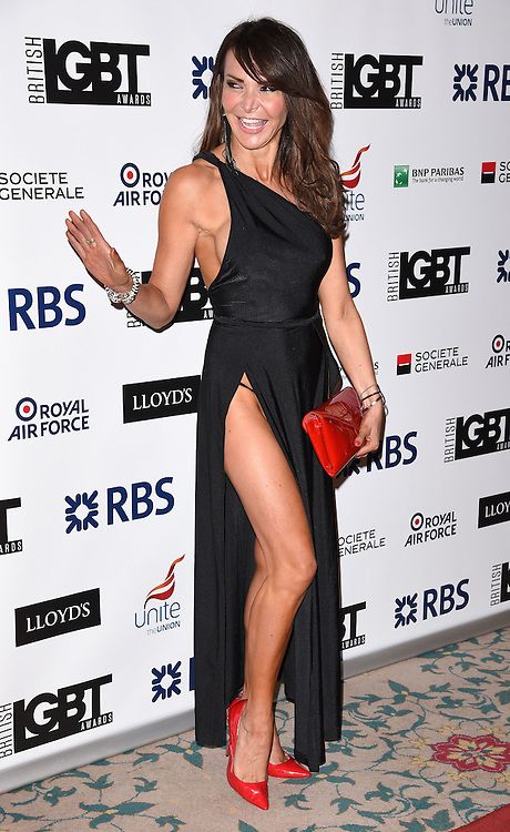 Lizzy Cundy attends The British LGBT Awards at The Landmark Hotel, London on Friday 24 April 2015