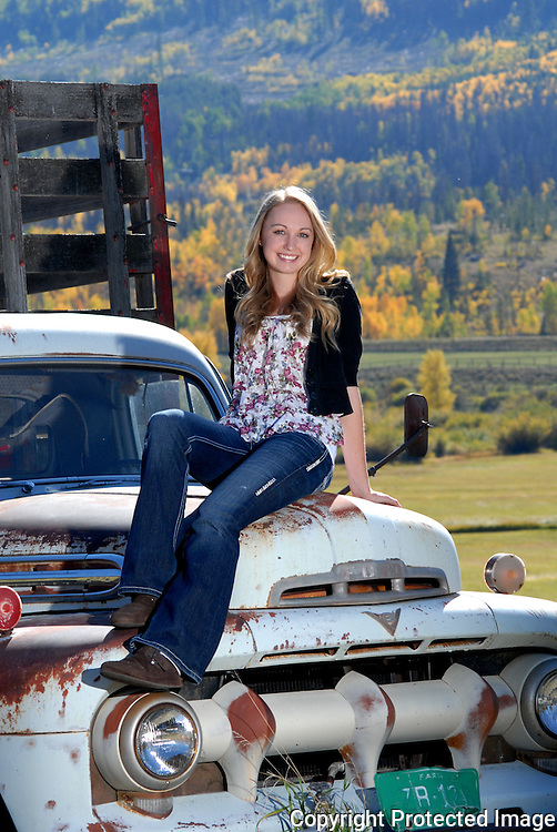 This beautiful senior girl is taken in the mountains of colorado, just outside of Granby, CO, up 125 towards Walden. Great spot for an outdoor photo!