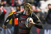 Duhan van der Merwe scores try during the Guinness Pro 14 2017_18 match between Edinburgh Rugby and Southern Kings at Myreside Stadium, Edinburgh, Scotland on 5 January 2018. Photo by Kevin Murray.