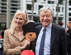 © Licensed to London News Pictures. 24/10/2016. London, UK. Lord Alf Dubs and Actress Joely Richardson join protesters outside the Home Office to demand that the government move children from the Calais 'Jungle' camp in France to the United Kingdom. French authorities have begun the demolition of the camp. Photo credit: Rob Pinney/LNP