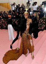 Winnie Harlow attending the Metropolitan Museum of Art Costume Institute Benefit Gala 2019 in New York, USA.