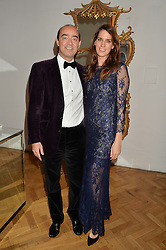 FREDERICK & KATRINA HOFKINS at the Sugarplum Dinner in aid Sugarplum Children a charity supporting children with type 1 diabetes and raising funds for JDRF, the world's leading type 1 diabetes research charity held at One Marylebone, London on 18th November 2015.