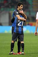 """Esultanza Andrea Ranocchia Inter.Goal celebration.Milano 02/12/2012 Stadio """"San Siro"""".Football Calcio Serie A 2012/13.Inter v Palermo.Foto Insidefoto Paolo Nucci."""