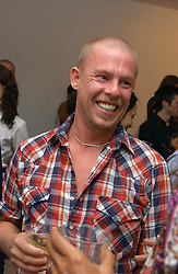 Fashion designer ALEXANDER MCQUEEN at the launch of 'Blow Lips' a new lipstick by Isabella Blow and MAC Makeup held at the the Blow de la Barra Gallery, 35 Heddon Street, London on 7th September 2005.<br />