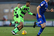 Forest Green Rovers Reuben Reid(26) runs forward during the EFL Sky Bet League 2 match between Forest Green Rovers and Morecambe at the New Lawn, Forest Green, United Kingdom on 17 November 2018.