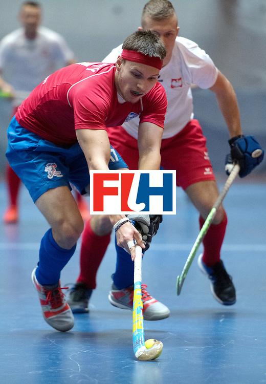 BERLIN - Indoor Hockey World Cup<br /> Czech Republic - Poland<br /> foto: Lukas Ploch&yacute; <br /> WORLDSPORTPICS COPYRIGHT FRANK UIJLENBROEK