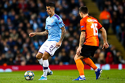 Joao Cancelo of Manchester City takes on Yevhen Konoplyanka of Shakhtar Donetsk - Mandatory by-line: Robbie Stephenson/JMP - 26/11/2019 - FOOTBALL - Etihad Stadium - Manchester, England - Manchester City v Shakhtar Donetsk - UEFA Champions League Group Stage