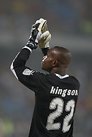 Photo: Steve Bond/Richard Lane Photography.<br />Ghana v Morocco. Africa Cup of Nations. 28/01/2008. Richard Kingson thanks the crowd