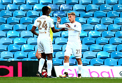 Samu Saiz of Leeds United celebrates with teammates after scoring a goal - Mandatory by-line: Robbie Stephenson/JMP - 09/08/2017 - FOOTBALL - Elland Road - Leeds, England - Leeds United v Port Vale - Carabao Cup