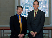Vision Ohio Award winners Tim Anderson, left, and Geoff Buckley. photo by Kevin Riddell