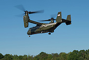 Image shows general view of an Osprey taking off from an landing zone in Camp Upshur as troops from 77 Brigade exercise with the United States Marine Corps and Army at Quantico Marine Corps Base, Quantico Virginia. <br /> <br /> 22/05/2015<br /> <br /> Elements of 77X are working with American troops on Combined Unit Exercise (CUX) 15.2 - a 3 week exercise meant to test Marine Corps Information Operations Centre (MCIOC) personnel in a variety of Information<br /> Operation techniques. <br /> <br /> <br /> Credit should read: Cpl Mark Larner RY