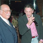 NLD/Amsterdam/19940422 - Feestje verjaardag Paul Wilking op Schiphol, Paul met Theo Sijthoff