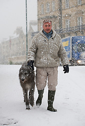 © Licensed to London News Pictures. 15/01/2013..Saltburn, Cleveland, England..Heavy snow fell in Saltburn...Photo credit : Ian Forsyth/LNP