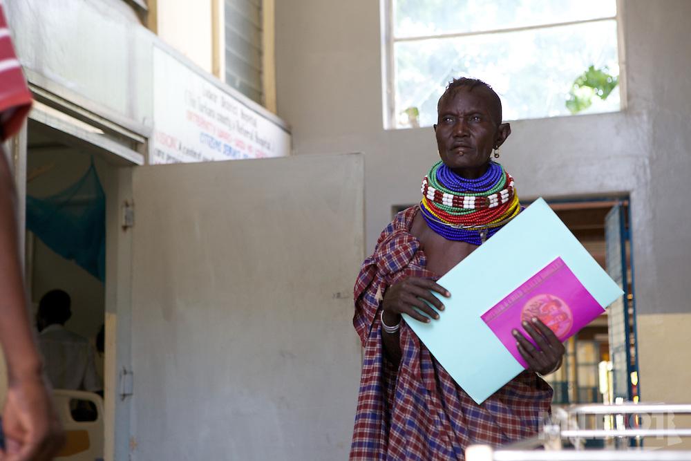 Inside Lodwar District Hospital maternity ward, Turkana, northern Kenya