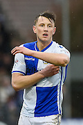 Goal scorer Bristol Rovers Midfielder, Ollie Clarke (8) during the EFL Sky Bet League 1 match between Bristol Rovers and Scunthorpe United at the Memorial Stadium, Bristol, England on 25 February 2017. Photo by Adam Rivers.