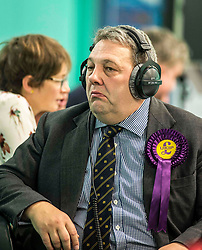 UKIP Scottish leader David Coburn at the Kirkcaldy & Cowdenbeath constituency count.<br /> © Dave Johnston/ EEm