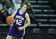 December 30, 2011: Northwestern Wildcats guard Karly Roser (42) with the ball during the NCAA women's basketball game between the Northwestern Wildcats and the Iowa Hawkeyes at Carver-Hawkeye Arena in Iowa City, Iowa on Wednesday, December 30, 2011.