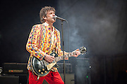 Legendary rock band The Replacements reunite and play at the Forest Hills Stadium to a crowd of almost 20,000 fans.