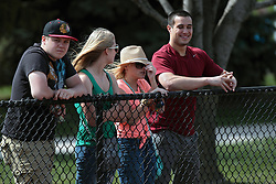 26 April 2014:  Baseball fans during an NCAA Division 1 Missouri Valley Conference (MVC) Baseball game between the Southern Illinois Salukis and the Illinois State Redbirds in Duffy Bass Field, Normal IL