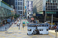 Chine, Hong Kong, Hong Kong Island, Des Voeux Road Central // China, Hong-Kong, Hong Kong Island, Des Voeux Road Central