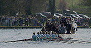 2003 - Rowing - Henley Boat Races (Women's varsity Boat Race).Cambridge Blue boat followed by the umpires launch Rowing Courses, Henley Reach
