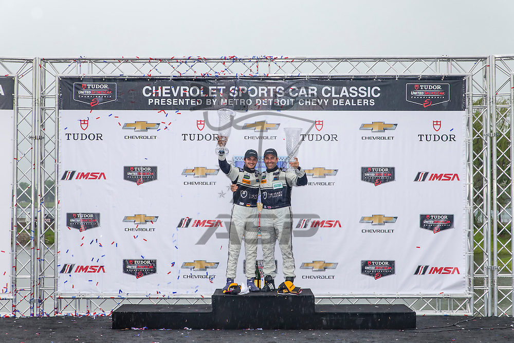 Detroit, MI - May 30, 2015:  The Tudor United SportsCar Championship teams take to the track for the Chevrolet Sports Car Classic presented by Metroit Detroit Chevy Dealers at The Raceway on Belle Isle in Detroit, MI.