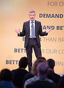 Liberal Democrats Autumn Conference in Brighton, East Sussex 18th September 2018 <br /> Final day <br /> <br /> Willie Rennie MSP <br /> Scottish Leader fo the Liberal Democrats <br /> Speech <br /> <br /> <br /> Photograph by Elliott Franks
