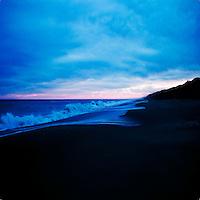 A blue coastline
