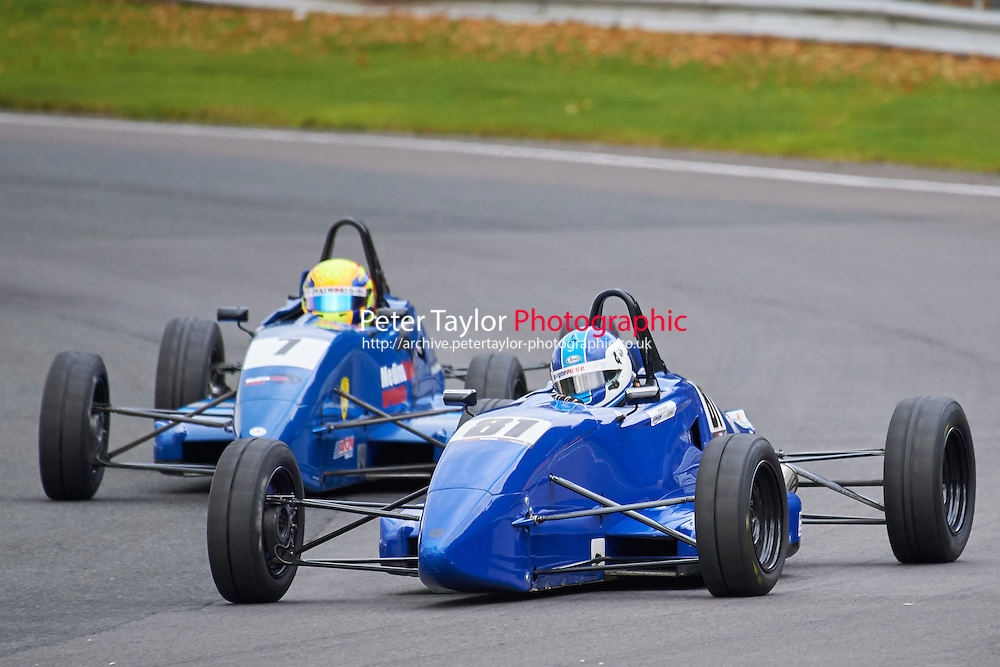 #81 Josh Fisher Van Diemen 99 during Avon Tyres Formula Ford 1600 Northern Championship - Prost 89 Race 2 as part of the BRSCC Fun Cup Oulton Park 17th October 2015 at Oulton Park, Little Budworth, Cheshire, United Kingdom. October 17 2015. World Copyright Taylor/PSP. Copy of publication required for printed pictures.  Every used picture is fee-liable. http://archive.petertaylor-photographic.co.uk