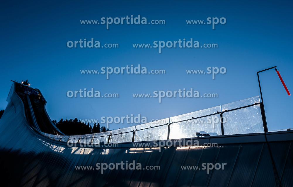 31.12.2016, Olympiaschanze, Garmisch Partenkirchen, GER, FIS Weltcup Ski Sprung, Vierschanzentournee, Garmisch Partenkirchen, Training, im Bild der Anlaufturm der grossen Olympiaschanze // the Tower of the big Olympic Hill before the Practice Jump for the Four Hills Tournament of FIS Ski Jumping World Cup at the Olympiaschanze in Garmisch Partenkirchen, Germany on 2016/12/31. EXPA Pictures © 2017, PhotoCredit: EXPA/ JFK