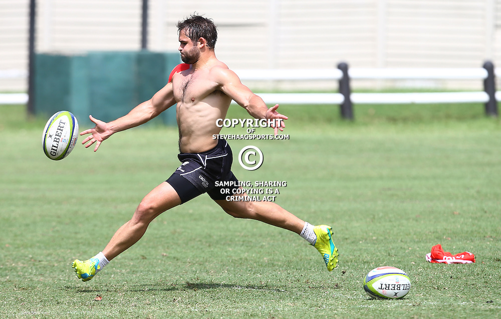 DURBAN, SOUTH AFRICA, 10,MARCH, 2016 - Cobus Reinach during the Cell C Sharks training session and press conference at Growthpoint Kings Park on March 10, 2016 in Durban, South Africa. (Photo by Steve Haag)<br /> <br /> images for social media must have consent from Steve Haag