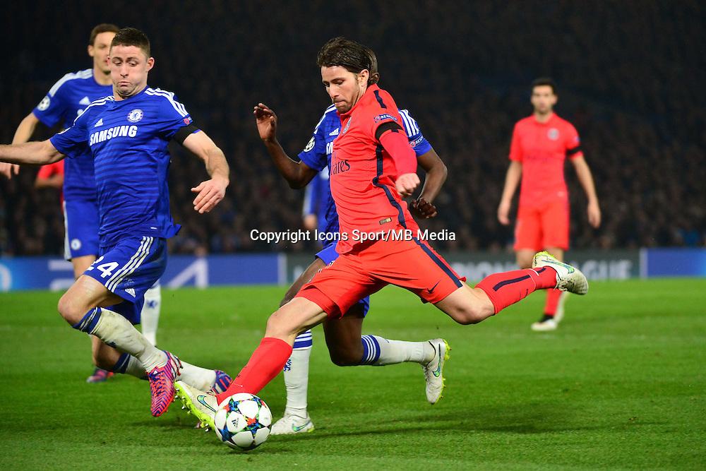 Sherrer MAXWELL / Gary CAHILL - 11.03.2015 - Chelsea / Paris Saint Germain - 1/8Finale retour Champions League<br /> Photo : Dave Winter / Icon Sport