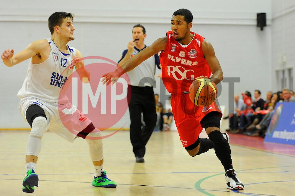 Bristol Flyers' Dwayne Lautier-Ogunleye  - Photo mandatory by-line: Joe Meredith/JMP - Mobile: 07966 386802 - 21/11/2014 - Sport - Basketball - Bristol - SGS Wise Campus - Bristol Flyers v Surrey United - British Basketball League