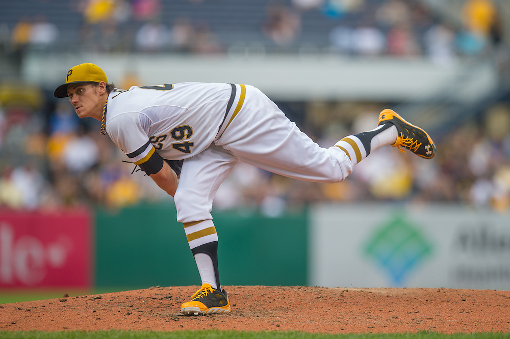 PITTSBURGH, PA - JUNE 08: Jeff Locke #49 of the Pittsburgh Pirates pitches during the game against the Milwaukee Brewers at PNC Park on June 8, 2014 in Pittsburgh, Pennsylvania. (Photo by Rob Tringali) *** Local Caption *** Jeff Locke