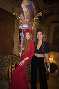 BLANCHE  HOWARD; ISABELLA ROSS; , Ball at to celebrateBlanche Howard's 21st and  George Howard's 30th  birthday. Dress code: Black Tie with a touch of Surrealism. Castle Howard. Yorkshire. 14 November 2015