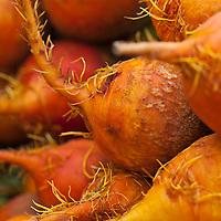 Golden beets at a farmers market