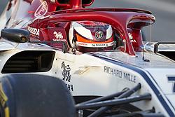February 18, 2019 - Barcelona, Catalonia, Spain - Kimi Raikkonen (Alfa Romeo Sauber F1 Team) during the winter test days at the Circuit de Catalunya in Montmelo (Catalonia), February 18, 2019. (Credit Image: © Fernado Pidal/NurPhoto via ZUMA Press)