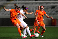 Fifa Womans World Cup Canada 2015 - Preview //<br /> Cyprus Cup 2015 Tournament ( Gsp Stadium Nicosia - Cyprus ) - <br /> Netherlands vs England 1-1   //  Alex Scott of England (Middle) , challenges with Sherida Spitse (L) and Lieke Martens (R) of Netherlands