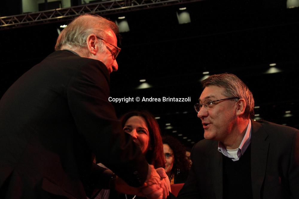 Riccione 25 Gennaio 2014 - 2&deg; Congresso Nazionale Sinistra Ecologia Liberta' - SEL<br /> Maurizio Landini al congresso SEL