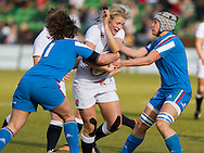 Alex Matthews in action, England Women v Italy Women in Women's 6 Nations Match at Twickenham Stoop, Twickenham, England, on 15th February 2015. Final score 39-7.