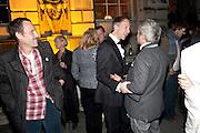 MARLON RICHARDS; JEFFERSON HACK; NELLEE HOOPER, Dazed & Confused 20th Anniversary Exhibition. Somerset House. London. 3 November 2011<br /> <br />  , -DO NOT ARCHIVE-© Copyright Photograph by Dafydd Jones. 248 Clapham Rd. London SW9 0PZ. Tel 0207 820 0771. www.dafjones.com.