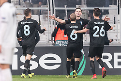 (L-R) Arnor Ingvi Traustason of Malmo FF, Oscar Lewicki of Malmo FF, Marcus Antonsson of Malmo FF, Andreas Vindheim of Malmo FF during the UEFA Europa League group I match between between Besiktas AS and Malmo FF at the Besiktas Park on December 13, 2018 in Istanbul, Turkey