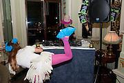 BOY GEORGE,  Philip Sallon's mass paranoia swine flu birthday party. DRESS: DISEASE RELATED OR SWINE, Home House. Portman Sq. London. 13 November 2009.