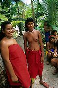 Dancers, Ifalik Island, Yap, Micronesia