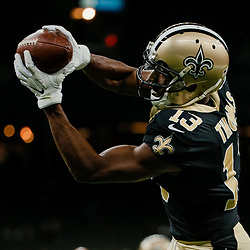Aug 30, 2018; New Orleans, LA, USA; New Orleans Saints wide receiver Michael Thomas (13) before a preseason game against the Los Angeles Rams at the Mercedes-Benz Superdome. Mandatory Credit: Derick E. Hingle-USA TODAY Sports