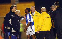 Picture: Ady Kerry<br /> SPORTSBEAT IMAGES 01494 783165<br /> LEYTON ORIENT VS BRISTOL ROVERS<br /> BRISTOL ROVER'S IJAH  ANDERSON IS SENT OFF AGAINST LEYTON ORIENT'S DURING THEIR DIVISION 3 MATCH AT BRISBANE ROAD, 2ND MARCH 2004.