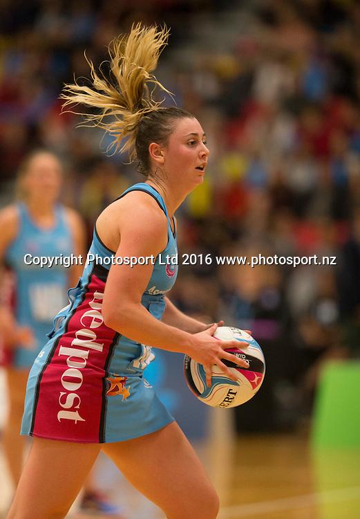 Steels Gina Crampton. Wai/BoP Magic v Southern Steel. ANZ Championship Netball, Energy Events Centre, Rotorua, New Zealand. Sunday, 17 April 2016. Copyright photo: John Cowpland / www.photosport.nz