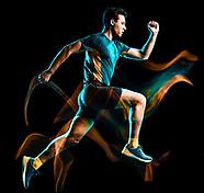 Runners Running Joggers Jogging