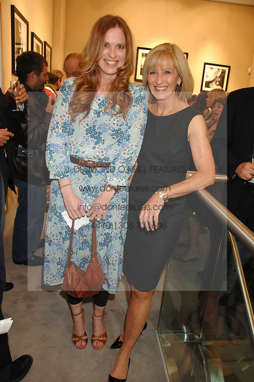 Left to right, DAISY DONOVAN and her mother DIANA DONOVAN at  a Private view of 'Terence Donovan: Image Maker And Innovator' at the Chris Beetles Gallery, 8 & 10 Ryder Street, London SW1 on 17th September 2007.<br />