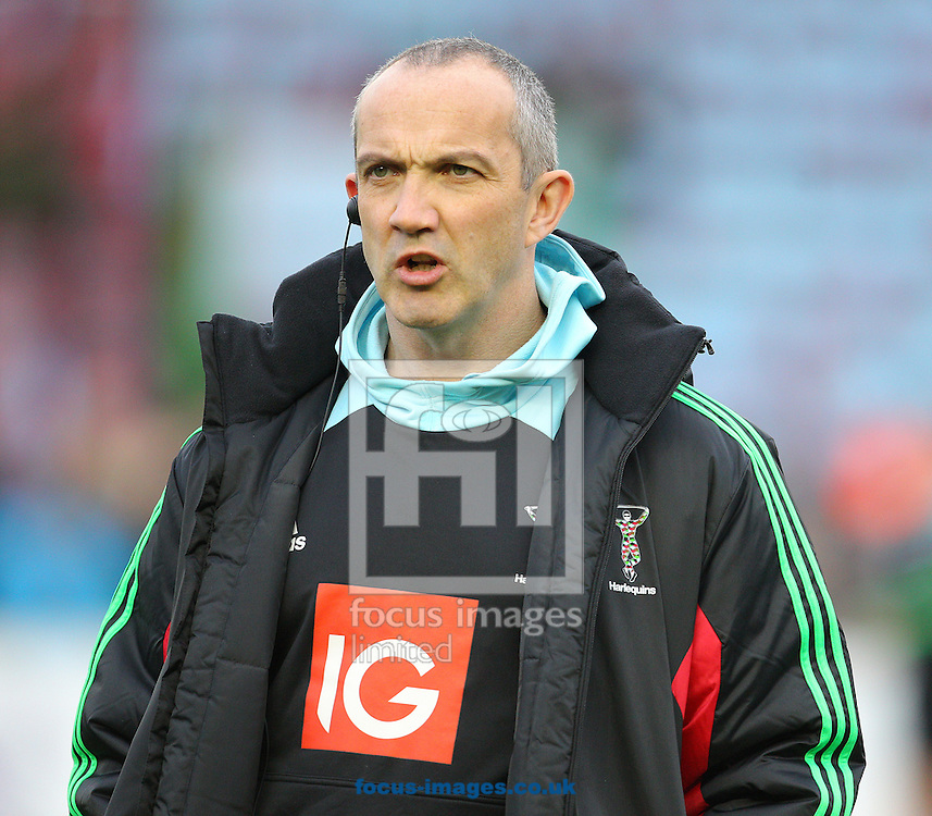 Conor O'Shea, Director of Rugby of Harlequins during the European Rugby Champions Cup match at Twickenham Stoop , London<br /> Picture by Paul Terry/Focus Images Ltd +44 7545 642257<br /> 07/12/2014
